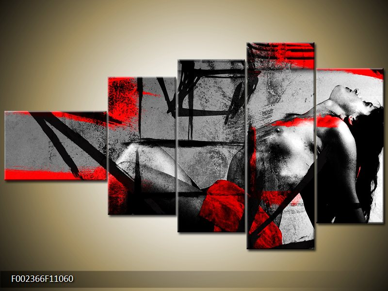 Vícedílný moderní obraz pětidílný
