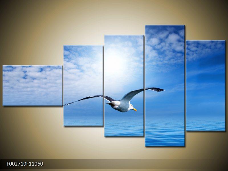 Vícedílný moderní pětidílný obraz