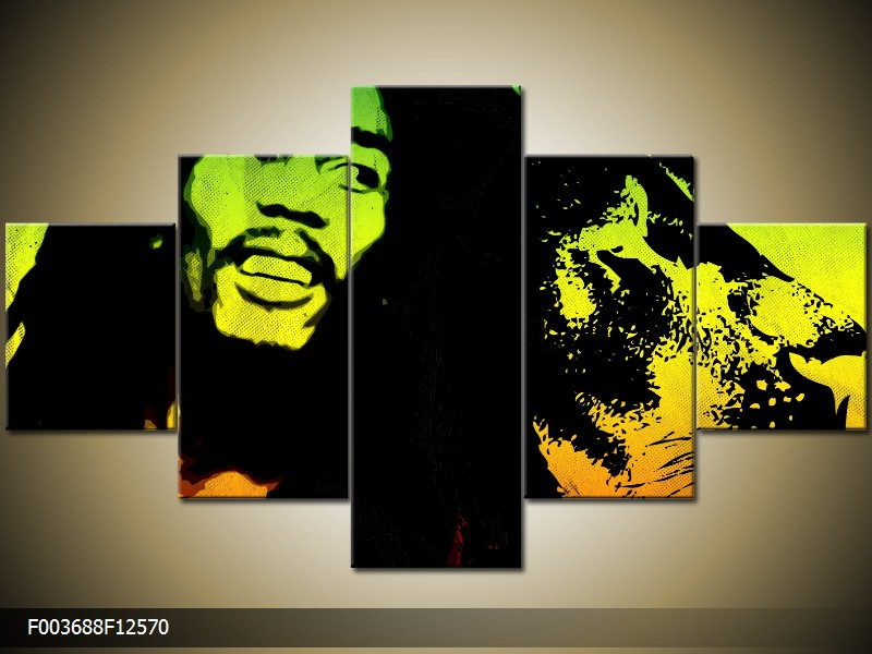 Obrazy na stěnu na plátně pětidílné