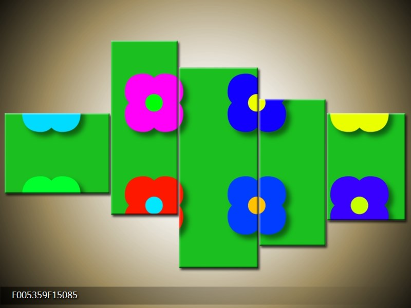 Moderní pětidílný obraz