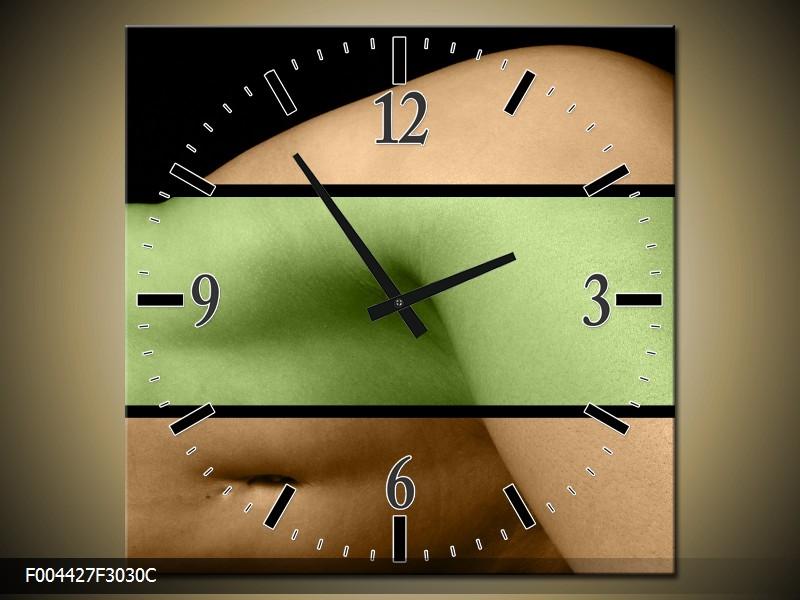 Obraz s hodinami 30x30 cm