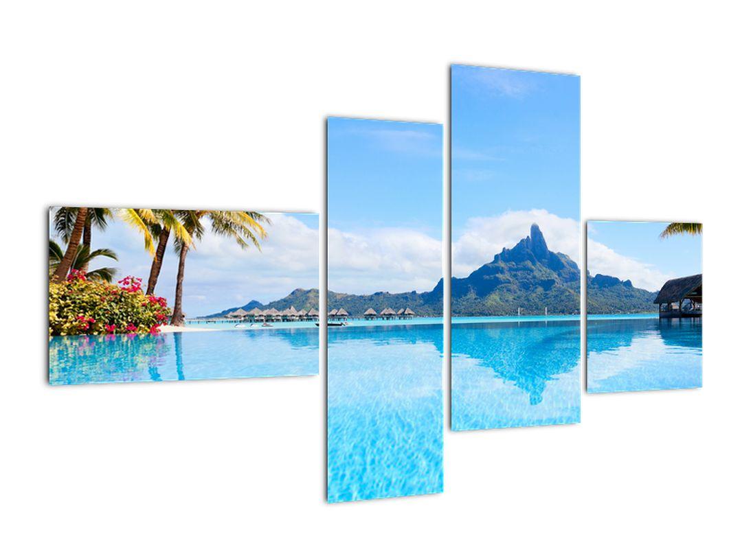 Moderní obraz - ráj u moře