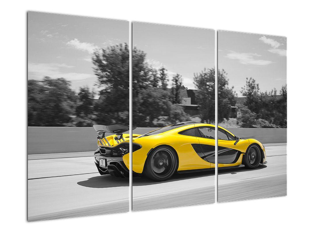 Žluté sportovní auto - obraz